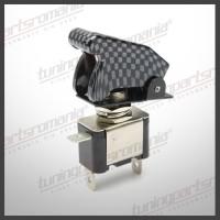 Comutator LED - ON-OFF  + Capac - Carbon